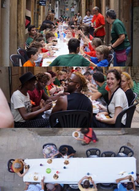 #Rocenmoviment verano 2019 barcelona comida, paella, comunidad