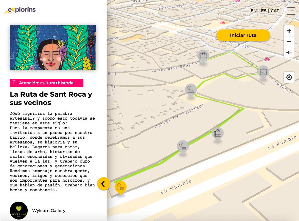 vista de ruta Wylsum Gallery en eXplorins app