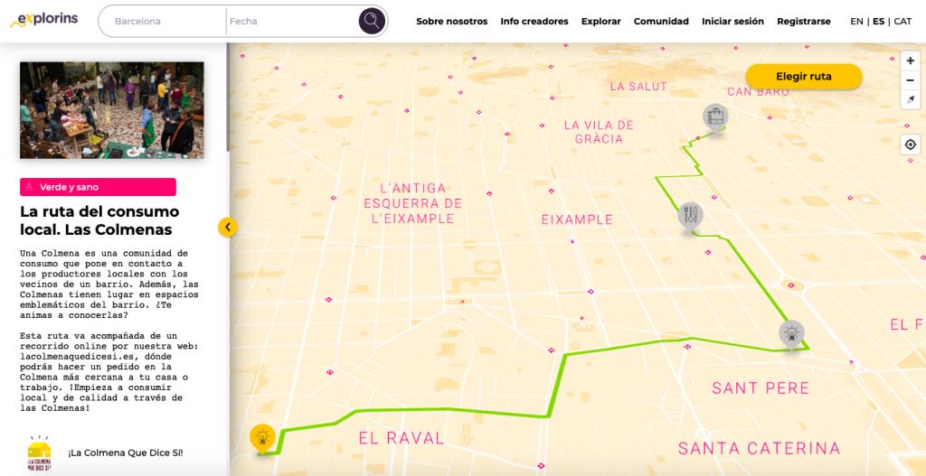 Ruta La Colmena Que Dice Sí en eXplorins app