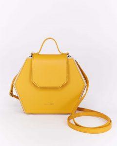 Bolso hexagonal amarillo Nuovum