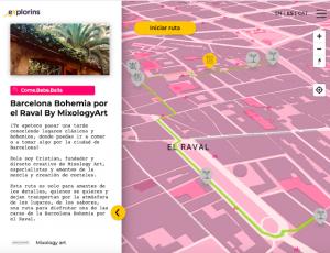 Ruta MixologyArt Barcelona en eXplorins app
