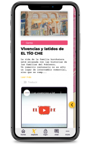 El anciano horchatero cuenta cuentos del Poblenou Ruta el tio che en explorins app
