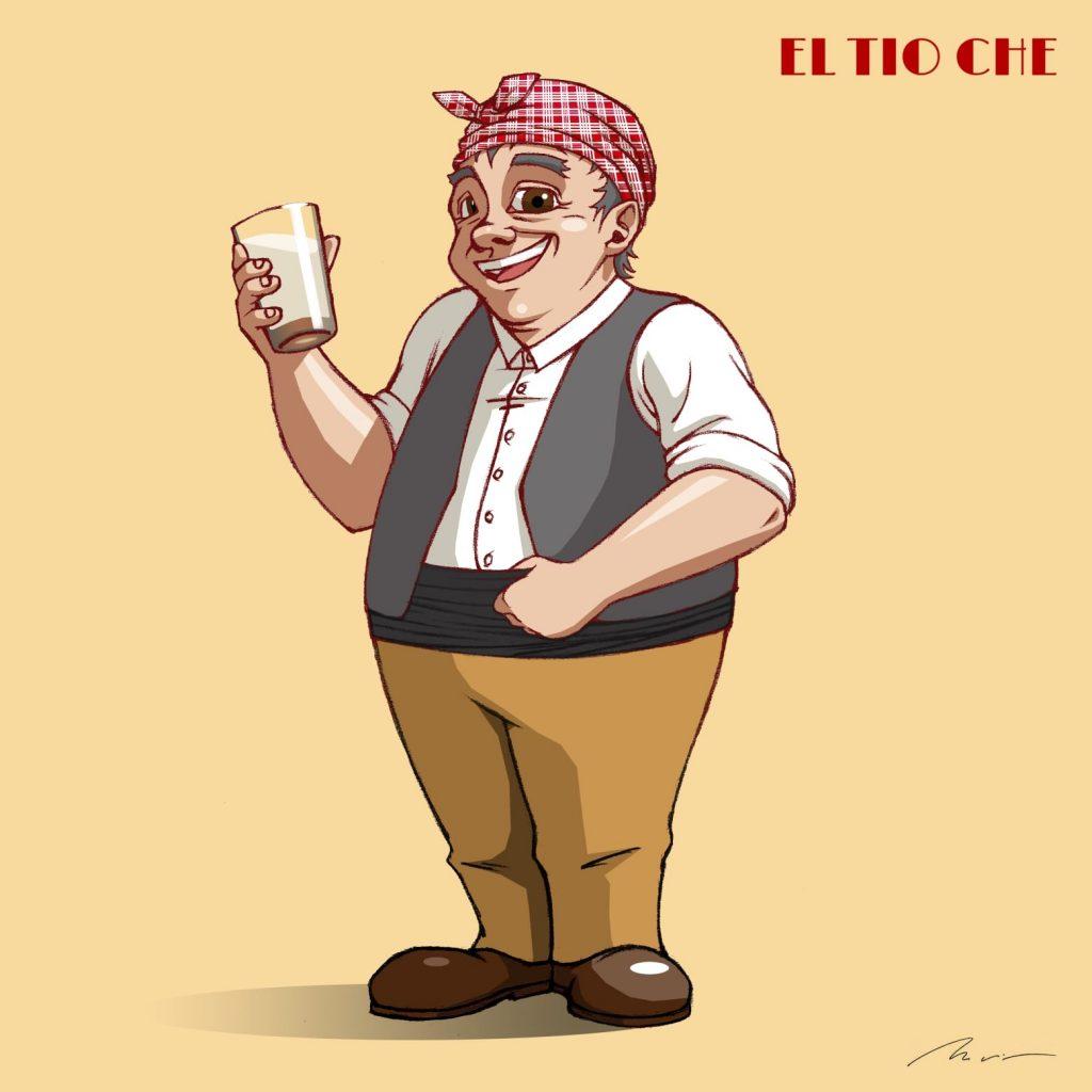 El anciano horchatero ilustrado El Tio Che