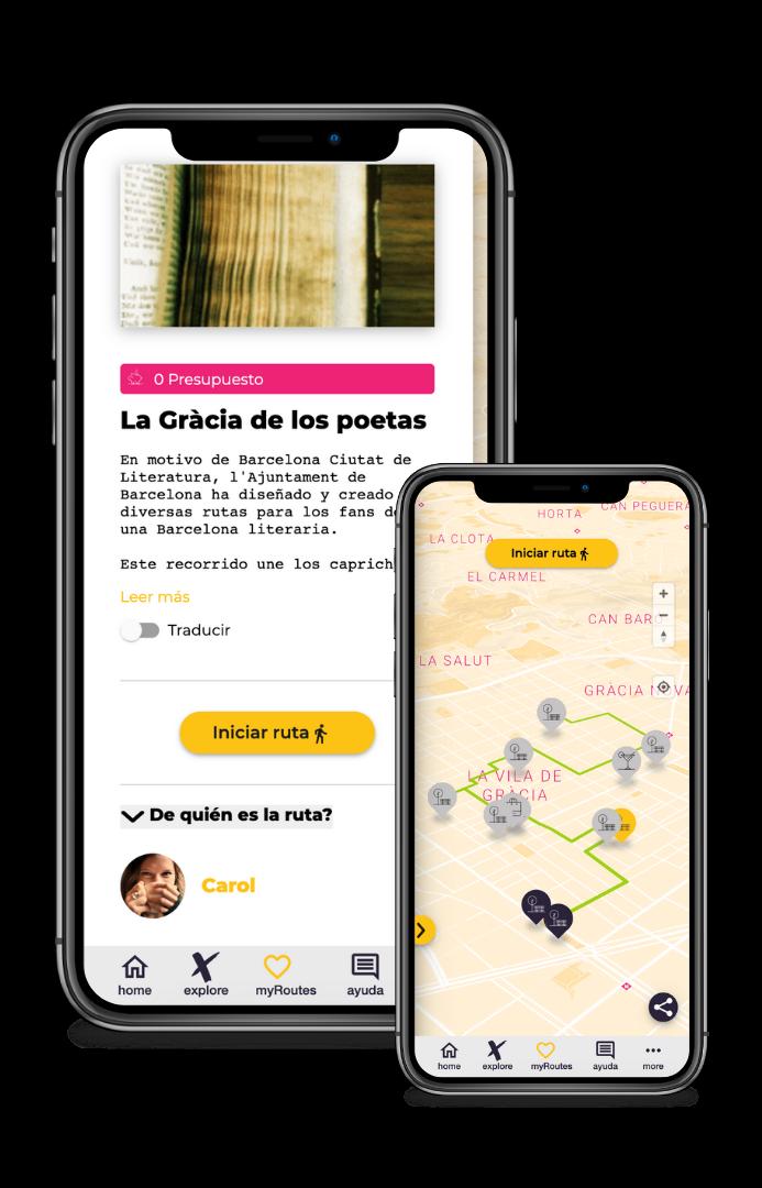 Ruta poesía Gràcia Barcelona literatura
